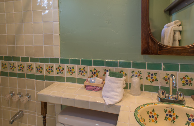 Bathroom at Twin Lakes Roadlodge.