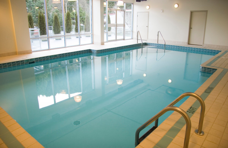 indoor pool at Harrison Beach Hotel.