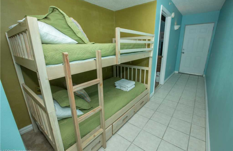 Bunk beds at Holiday Isle Properties - Pelican Beach 110.