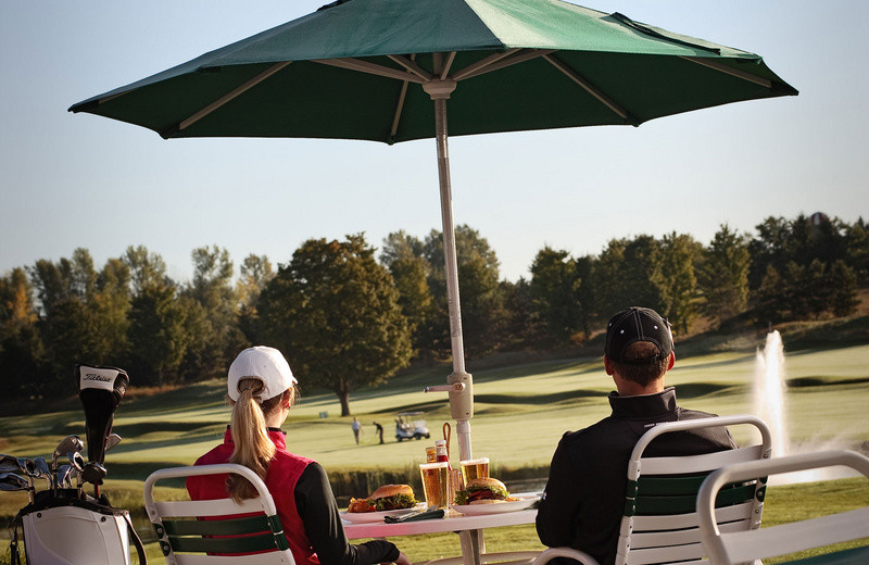 The Grille Patio at Grand Traverse Resort.