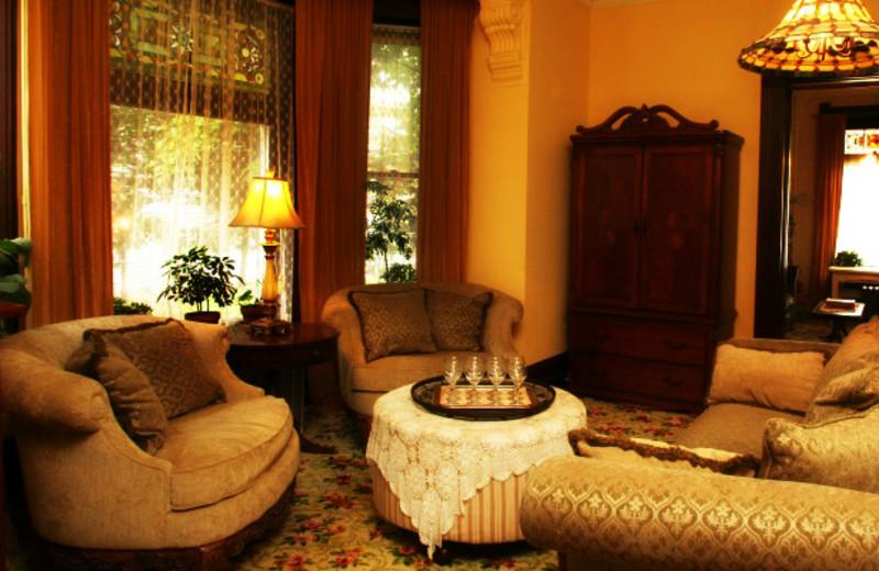 Parlor at Nicolin Mansion Bed & Breakfast.
