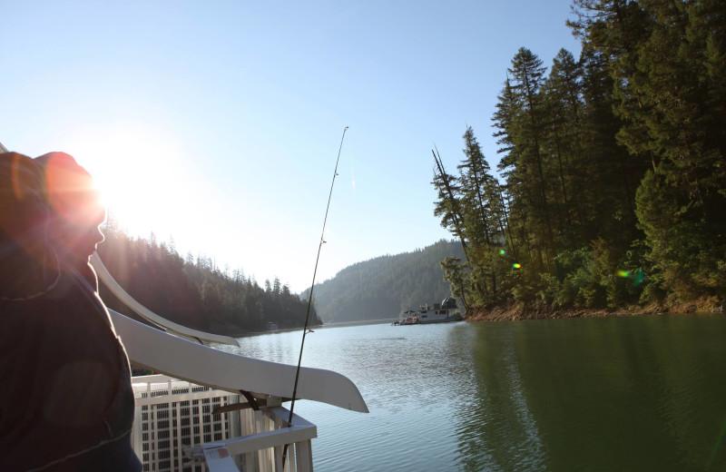 Fishing at Trinity Lake.