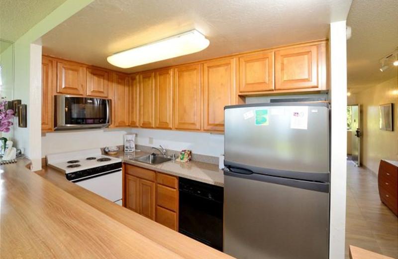 Vacation rental kitchen at Maui Vacation Rentals.