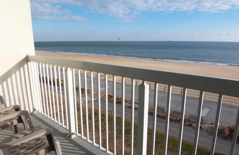 Balcony view at The Oceanfront Inn.