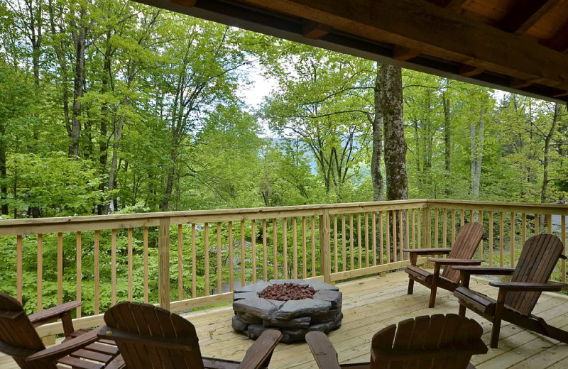 Rental deck at Premier Vacation Rentals.