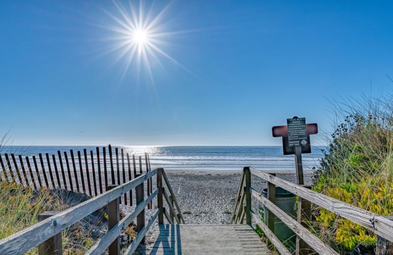 Beach access at Pajaro Dunes Resort.