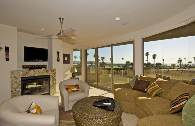 Rental living room at Pacific Sunset Group.