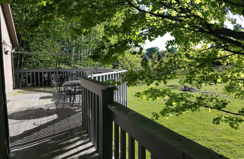 Rental balcony at Door County Vacancies.