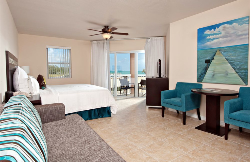 Guest room at Holiday Inn Resort Grand Cayman Hotel.
