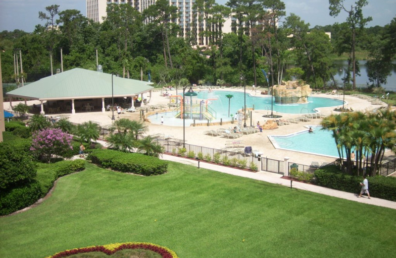 Outdoor pools at Wyndham Lake Buena Vista Resort.