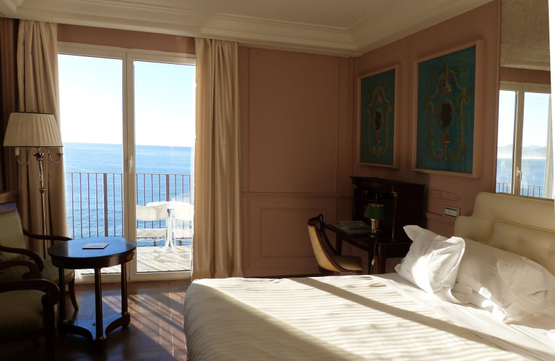 Guest room at Excelsior Palace Hotel.