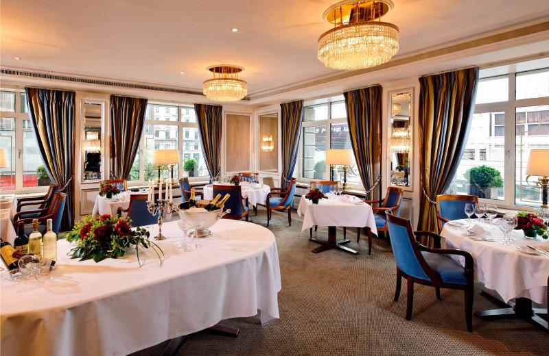 Dining at Hotel Schweizerhof Zürich.