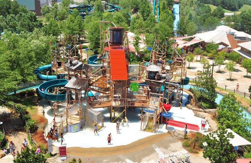 Water park at Golden Moon Hotel & Casino.