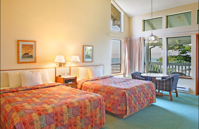 Guest room at Ocean Crest Resort.