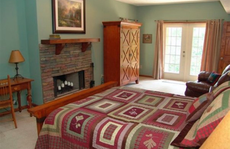 Guest room at Long Mountain Lodge.