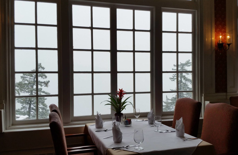 Dining room at Columbia Gorge Hotel.