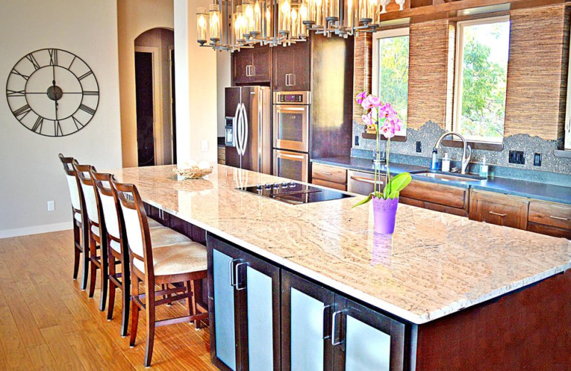 Rental kitchen at Casita Grove Vacation Home.