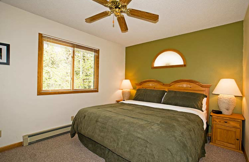 Suite bedroom at Woodlands On Fall River.