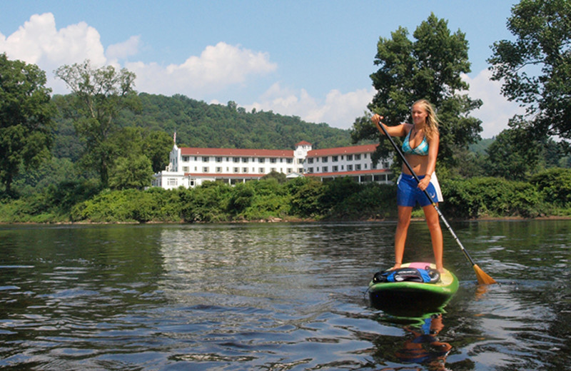 Paddle board at Shawnee Inn and Golf Resort.