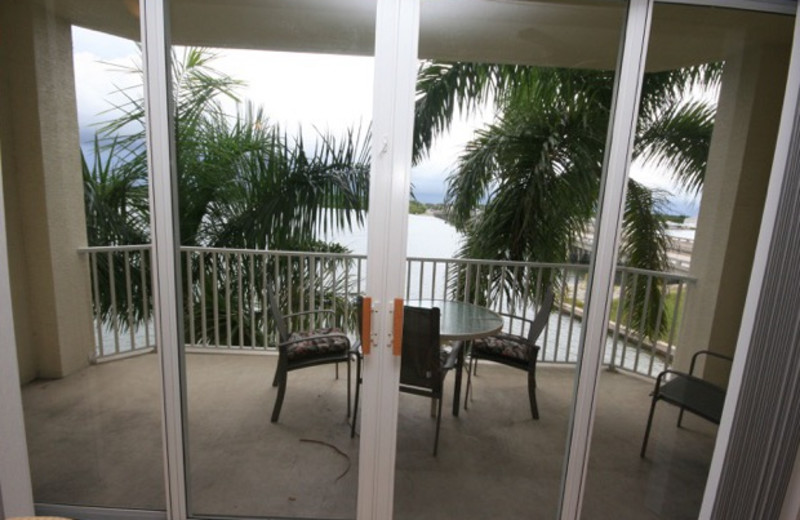Rental balcony at Boca Ciega Resort.