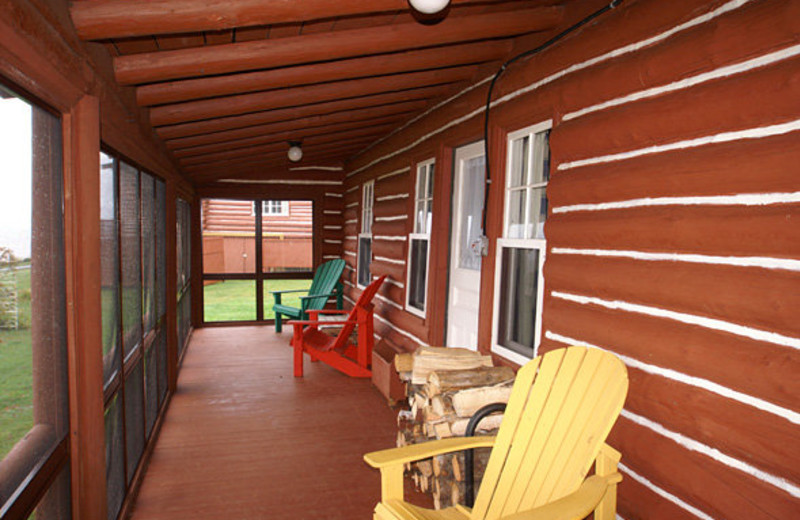 Porch at Pictou Lodge Resort
