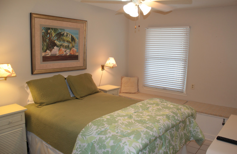 Rental bedroom at Seagrove On The Beach Property Rentals.