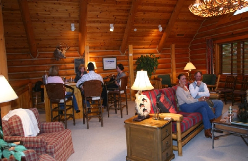 Relaxing at The Hideout Lodge & Guest Ranch.