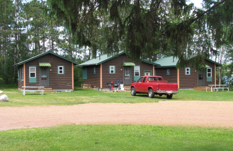 Cabin exterior at Hidden Cove Resort.