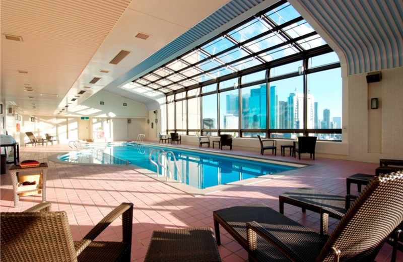 Indoor pool at Imperial Hotel Tokyo.