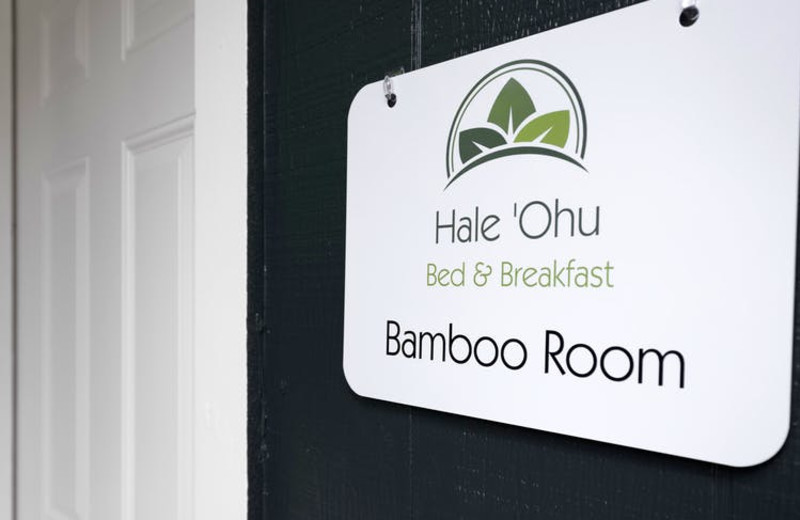 Room sign at Hale 'Ohu Bed & Breakfast.