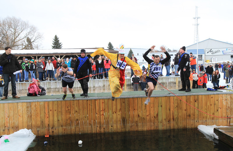 Polar bear plunge event at Bonnie Castle Resort.