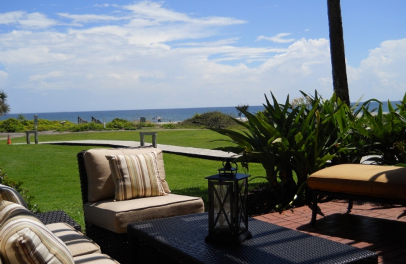 Rental porch at Amelia Island Rentals, Inc.