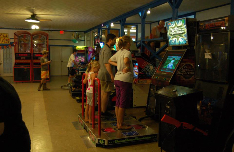 Video arcade at Lake Ridge Resort.