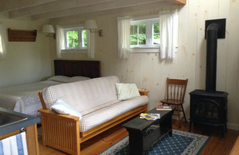 Cottage interior at Sunapee Harbor Cottages.