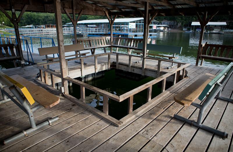 Dock at Bass Point Resort.