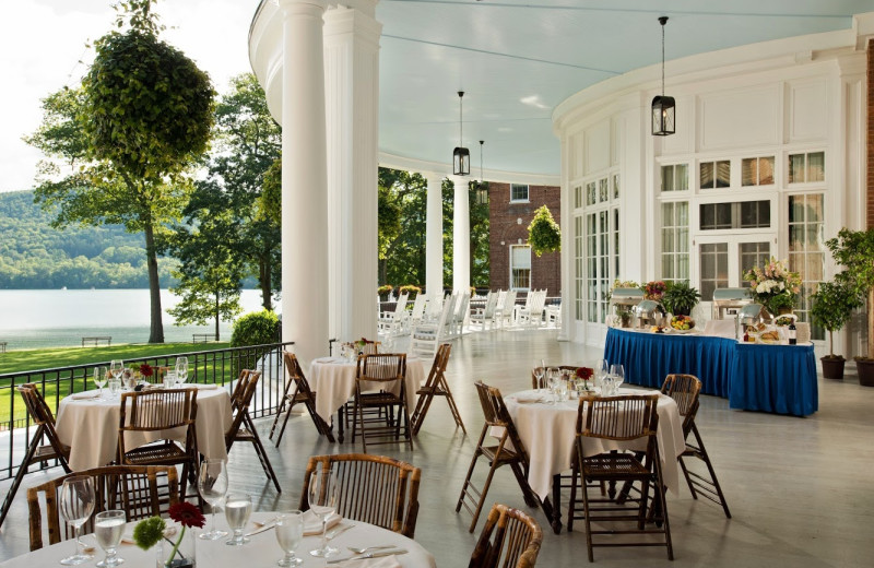 Patio dining at The Otesaga Resort Hotel.
