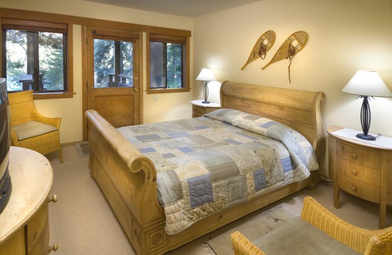 King bedroom at Granlibakken Resort.