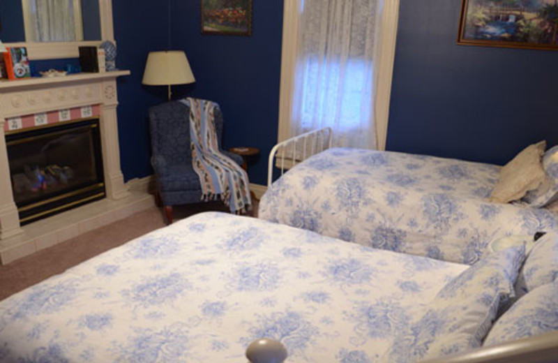Guest room at 1884 Bridgeford House.