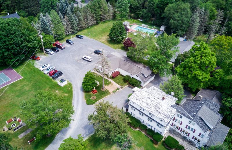 Aerial view of Deerfield Spa.