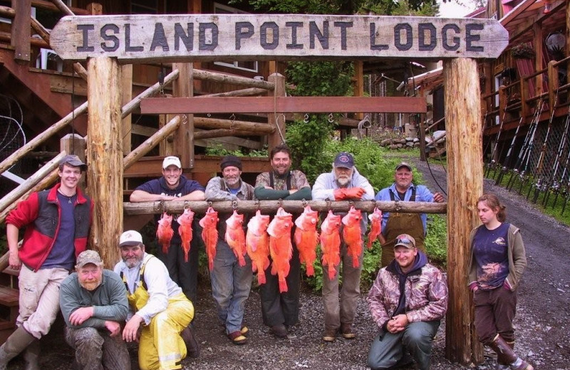 Fishing at Island Point Lodge.