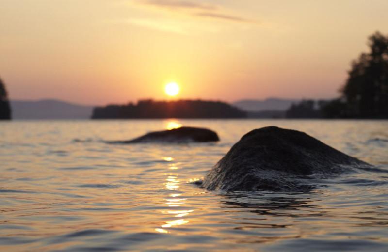 Sunset at Migis Lodge.