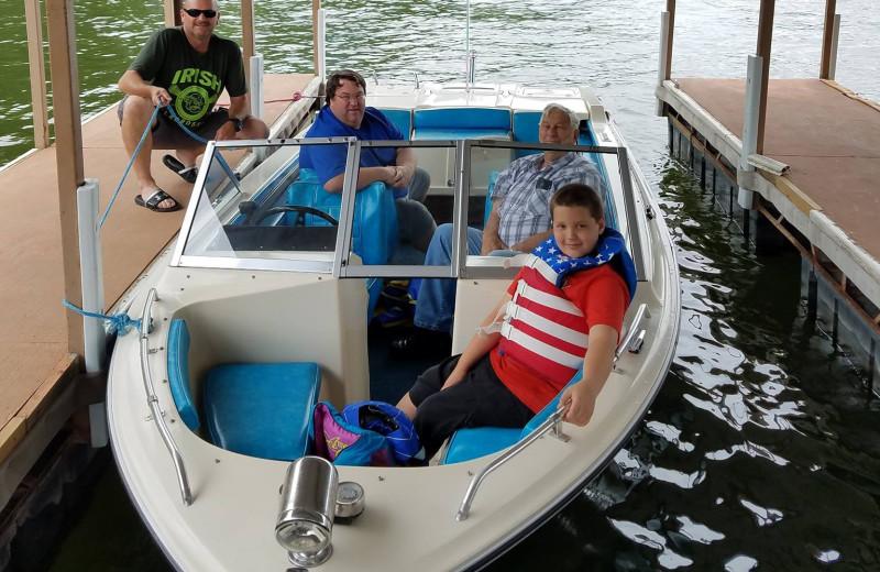 Boating at Kon Tiki Resort.