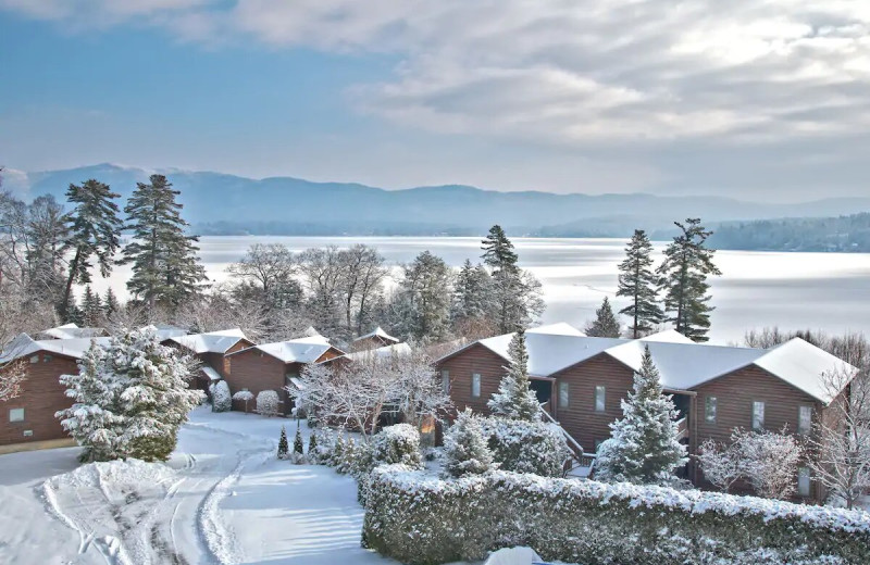 Winter at The Lodges at Cresthaven on Lake George.