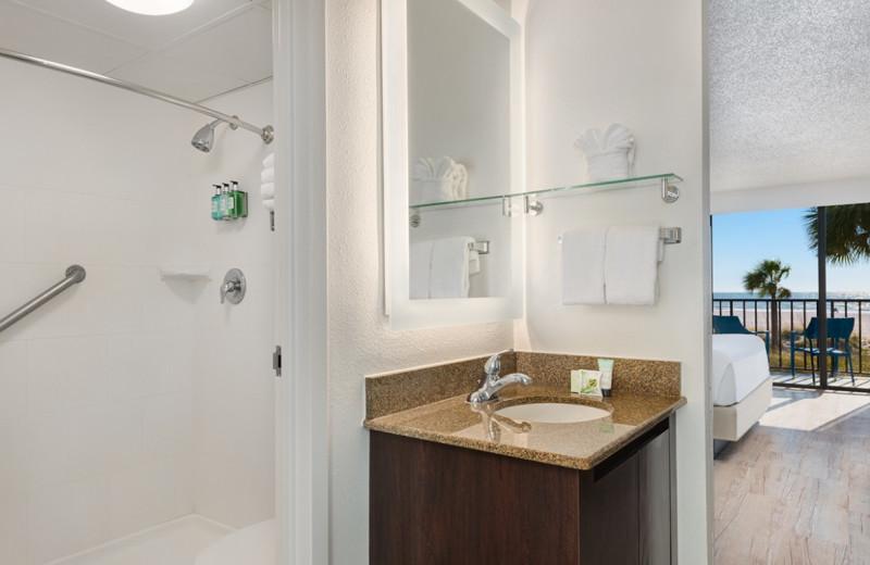 Guest bathroom at Sirata Beach Resort.