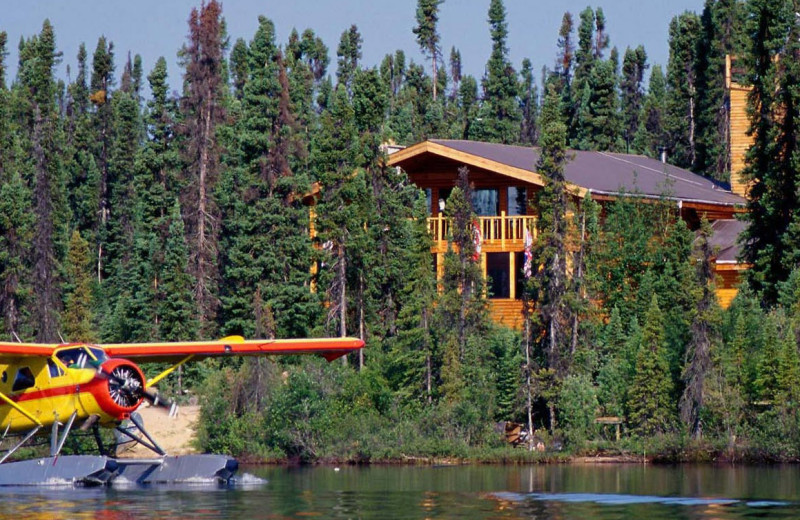 Exterior view of North Knife Lake Lodge.