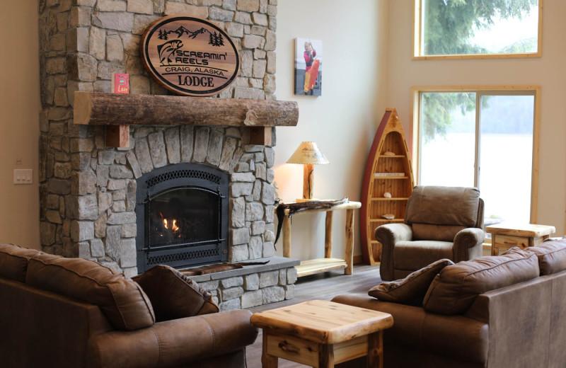 Lounge at Screamin' Reels Lodge.