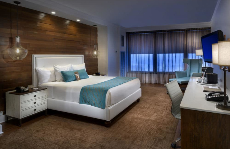 Guest room at Turning Stone Resort Casino.