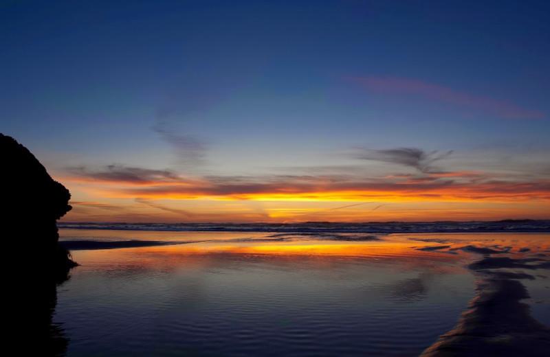 Sunset at Hallmark Resort in Cannon Beach.