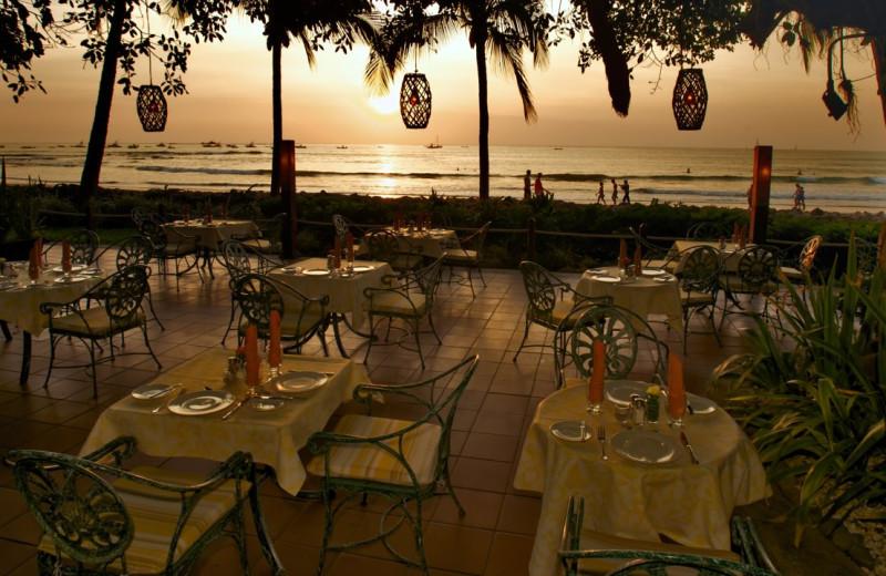 Patio at Tamarindo Diria Hotel.