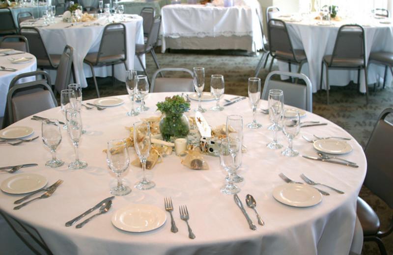 Wedding reception at Ocean Isle Inn.